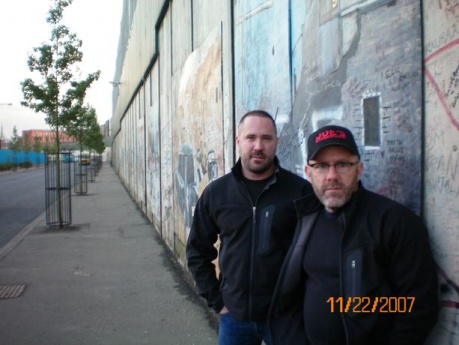 Joe and Mike at the Wall in Belfast