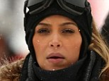 Let it snow! Kim Kardashian showed off some pretty committed skier goggle marks in Park City, Utah on New Year's Eve