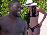 Getaway: Kevin Hart, 34, was seen on vacation at Saint Barthélemy in the French West Indies on Sunday