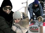 PICTURE EXCLUSIVE: Kourtney Kardashian and Scott Disick go tubing in the snow with children Mason and Penelope during family vacation in Utah