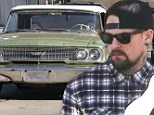 Good Charlotte star Benji makes petrol stop as he takes his  classic 1963 Ford Galaxie for a spin