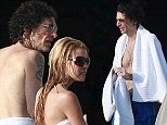 Howard Stern keeps his Private Parts covered while in Cabo with wife Beth Otrosky and his friends