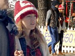 Pledge of allegiance: Blake Lively wears Canadian flag hat as she walks with husband Ryan Reynolds to comedy club