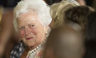 Health scare: Former first lady Barbara Bush was admitted to a Houston hospital Tuesday for treatment of pneumonia