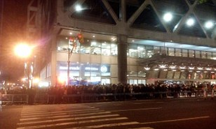 Mass evacuation: The Port Authority Bus Terminal is only one block from Times Square