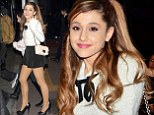 Konichiwa! Ariana Grande cuts a stylish figure in daringly short miniskirt and fluffy jumper as she touches down in Japan