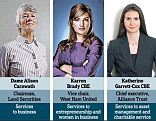 Leading the way: Britain's top businesswomen have been recognised in this year's New Year's honours