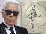 Karl before Chanel: Early Lagerfeld sketches from the 1960s reveal fashion designer's promise as a young man