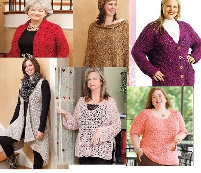 Full figure crochet sweater patterns and fashions to crochet