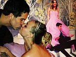 Introducing the Sweetings! Kaley Cuoco wears strapless pink gown to wed fianc� Ryan in New Year's Eve fire and ice themed ceremony