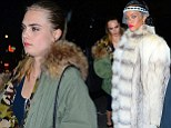 Rihanna was spotted arriving to the 40/40 club in NYC with BFF Cara Delevingne
