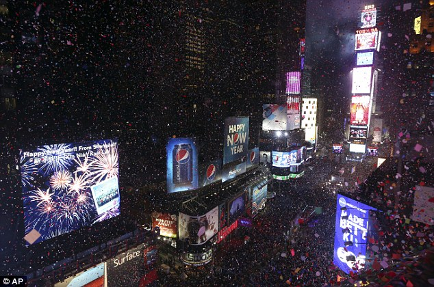 Confetti or snow? Revelers at New York's Times Square will need to dress warmly