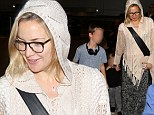 They think it's shawl over! Kate Hudson is wonderful in wool after jetting into Los Angeles with her children