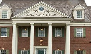 Fraternity: Justin Stuart was a 'pledge' in a branch of the Sigma Alpha Epsilon in Maryland. Pictured is a branch in Kansas
