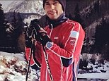 'Horrendously bad taste': Lewis Hamilton has been criticised by Formula One fans for posting this and other pictures online of him skiing as Michael Schumacher fights for life after his horror crash