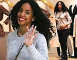 Kelly Rowland shops