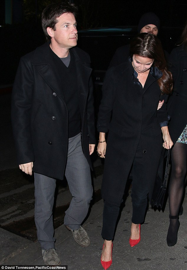 Busy actor: Jason was taking a break from filming Horrible Bosses 2 for his evening out