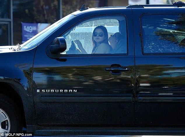 Behind-the-wheel: The 15-year-old actress was accompanied by sister Shanelle Workman on the excursion