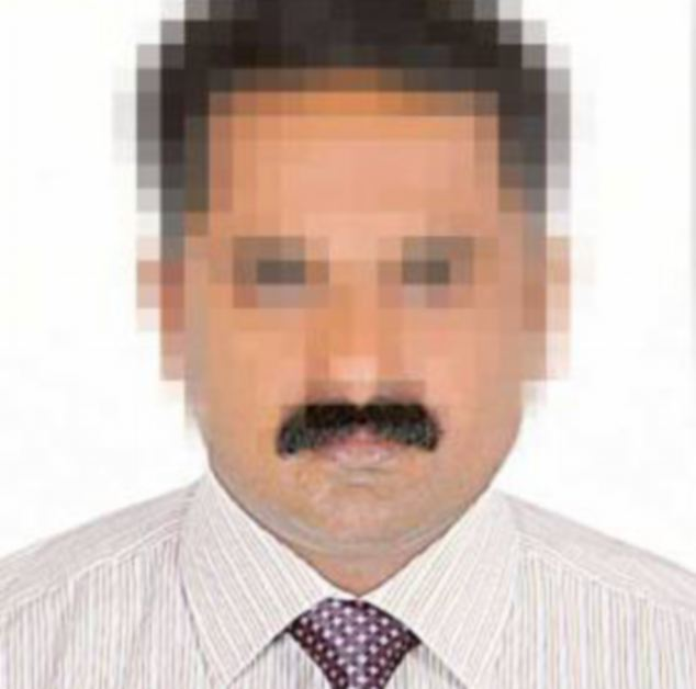 Allegations: Sujeev Kumar (pictured) had his passport confiscated after he landed at an airport because a passport control official allegedly didn't like the look of his moustache