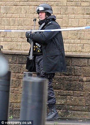 A police spokesman confirmed the incident is domestic. The hostage is not harmed