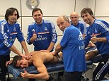 Great professional: Cristiano Ronaldo continues to ensure he remains in top condition during the winter break