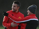 Too soon: Robin van Persie is close to returning to full fitness but may miss United's FA Cup clash with Swansea