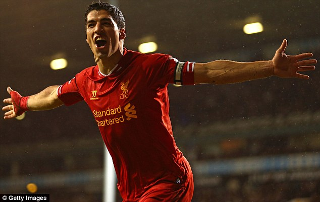 Goal machine: Liverpool striker Luis Suarez found the back of the net on 29 occasions during 2013