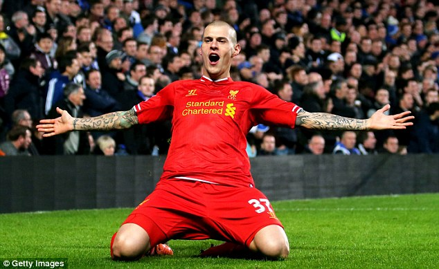 Peaking too soon? Martin Skrtel gave Liverpool the lead against Chelsea but the Blues blasted back to win 2-1