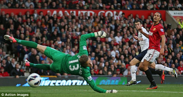 Great win: Gareth Bale scored a superb goal as Spurs beat United 3-2 in the same fixture last year