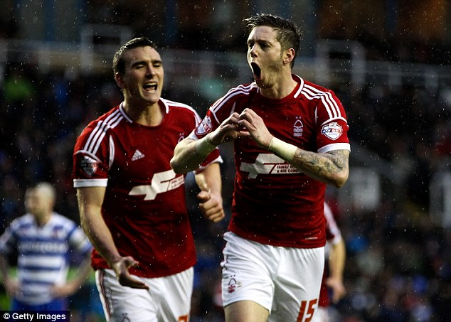 Celebration: Greg Halford (right) copies Gareth Bale's trademarked celebration to celebrate his goal