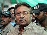 Facing charges: Former Pakistani president Pervez Musharraf (centre) is escorted by soldiers
