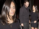 Back in black: Jordana Brewster and her husband, producer Andrew Form, were both seen on New Year's Eve wearing head-to-toe black while leaving Craig's, a restaurant in West Hollywood