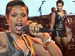 Ringing in the new year: Jennifer Hudson performed onstage for the annual TV spectacle, Dick Clark's New Year's Rockin' Eve with Ryan Seacrest - at Sunset Gower Studios in Los Angeles on Tuesday
