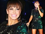 Happy new year! Karina Smirnoff rang in the new year at the at the Seminole Hard Rock Hotel and Casino in Tampa, Florida on Tuesday