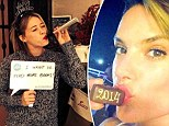 'Wishing a delicious 2014 to all!' Alessandra Ambrosio shares a sweet NYE greeting while Hilary Duff shares resolutions for 2014