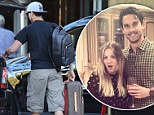 Wedding countdown! Kaley Cuoco's fiance Ryan Sweeting checks into hotel with designer luggage just hours before the ceremony