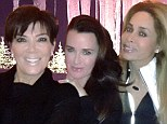 Gal pals: Kris Jenner shared a photo on Monday showing herself with friends Kyle Richards and Faye Resnick