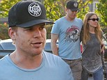 Out and about: Michael C. Hall was seen shopping at Fred Segal in West Hollywood on Monday, with girlfriend Morgan Macgregor