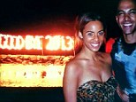 'Goodbye 2013!' Rochelle Humes saw in the New Year on a beach with husband Marvin
