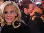 Jenny McCarthy and boyfriend Donnie Wahlberg share over the top kiss as she hosts New Year's Rockin' Eve