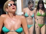 Jennifer Aniston in her most daring bikini yet! Actress almost falls out of two-piece as she soaks up sun with Friends co-star Courteney Cox in Mexico