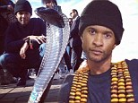 Three chains: Usher shared a photo on New Year's Day showing himself wearing a huge three-chain necklace while vacationing in Morocco