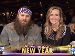 Clean slate: Willie Robertson and his wife Korie appeared on Fox News on New Years Eve to see in 2014 and to put 2013 behind them