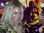 Party hoppers Beyonce and Jay-Z roar up to Diddy's NYE bash in Miami on scooter after first letting loose at the Versace mansion