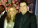 Dazzling; John Travolta and Kelly Preston scrubbed up very nicely for Carla Bruni's New Year's Eve party at London's Dorchester Hotel
