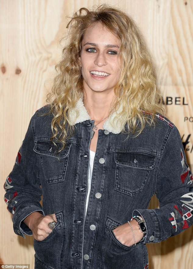 Everyone wants to be involved: Sought after model Alice Dellal was also spotted at the launch, rocking a casual look