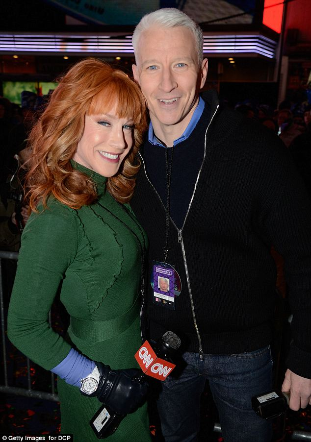Ready for the show: Kathy and Anderson Cooper will host the annual CNN live show as they ring in the New Year in Times Square