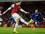 Goal hero: Wenger believes Bendtner's strike will help change the opinion Arsenal fans have of him
