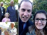 Selfie: Prince William followed in his father's footsteps when he posed with Madison Lambe at Sandringham