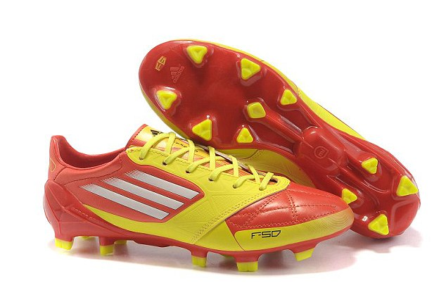 The future's bright... original orange versions of adidas F50 are not much beter